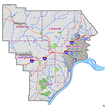 Floyd County Water Map